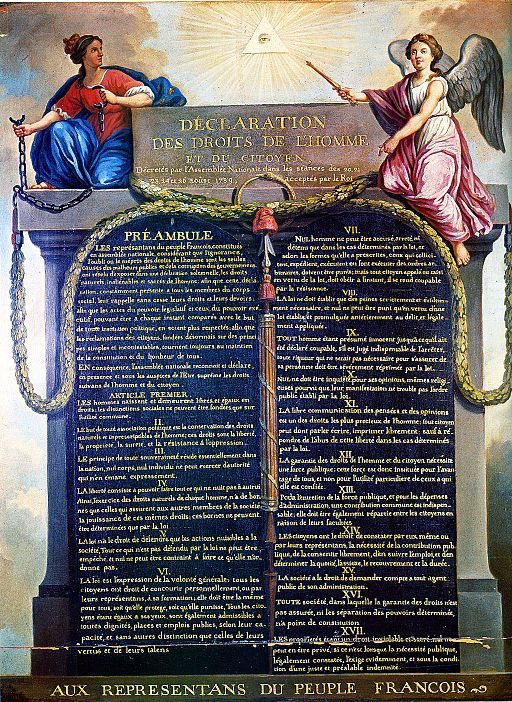 Declaration of the Rights of Humans and Citizens. Image: Jean-Jacques-François le Barbier [Public domain], via Wikimedia Commons