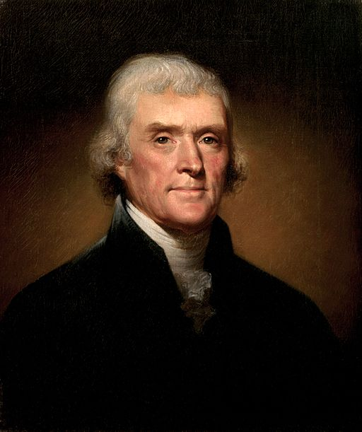 Thomas Jefferson by Rembrandt Peale [Public domain], via Wikimedia Commons